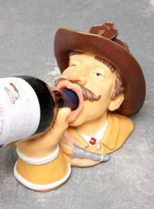 Fireman Wine Bottle Holder Drinking Firefighter Gift Fun Home Goods