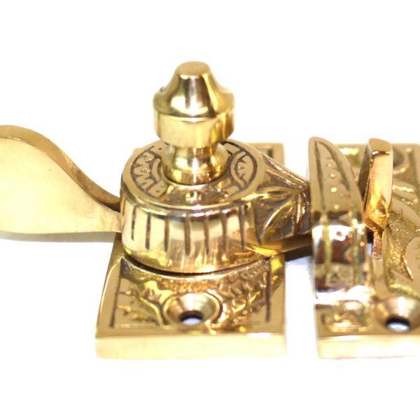 Victorian Window Sash Lock Spring Catch Brass Old Style Restoration Hardware Latch