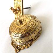 Twist Door Bell antique vintage REPLICA brass door hardware non electric hand crank