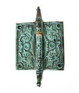"Victorian Motif Design 4"" Solid Brass Door Hinge Rare Quality New Hardware Tiffany Finish"