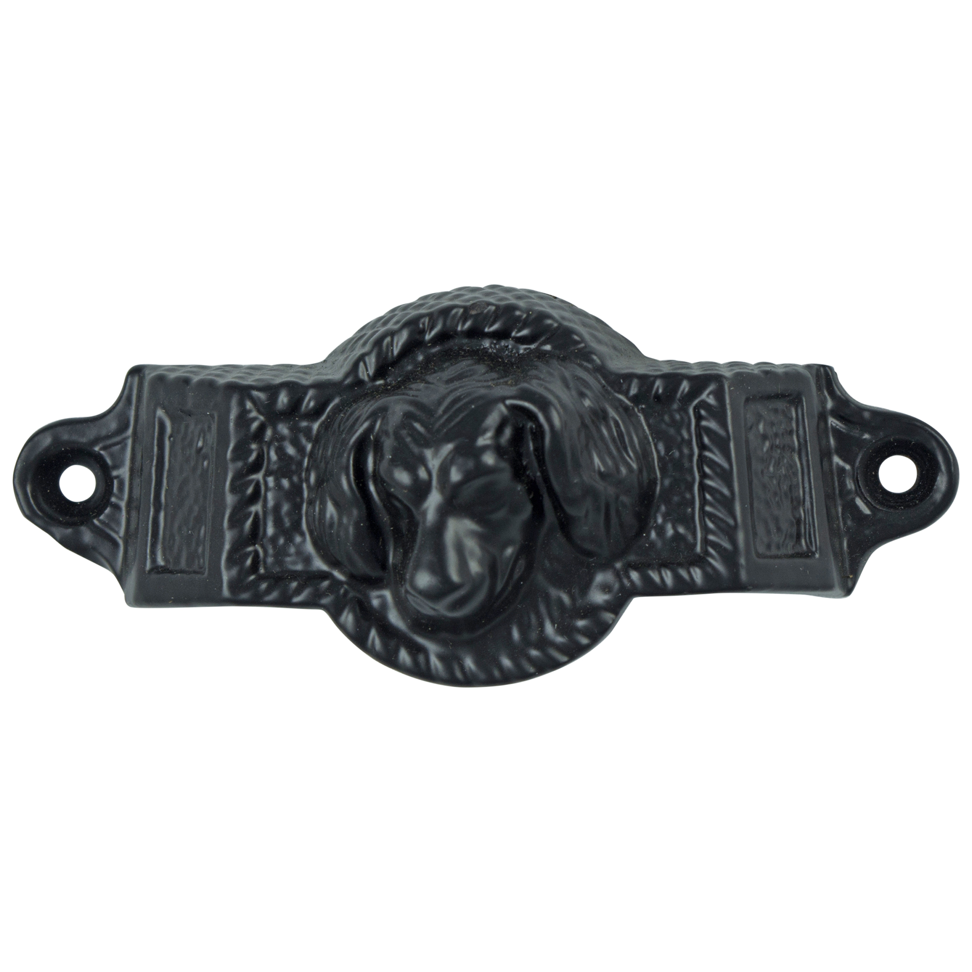 Cast Iron Dog Bin Pull, Antique Replica Vintage Cabinet Hardware