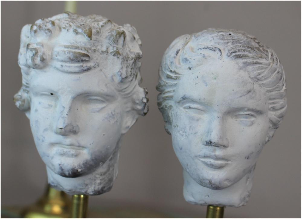 Romulus & Rhea Greek God Statues (pr) Sculptures on Lucite Acrylic Base lk Hart Haziza Art