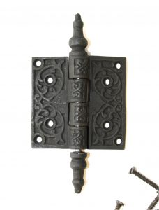 """2.5"""" Cast Iron antique style Victorian Steeple Tip Hinge, Replica Hardware for Restoration"""