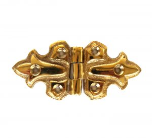 Fleur-de-lis Surface Cabinet Hardware Hinge Cast Solid Brass