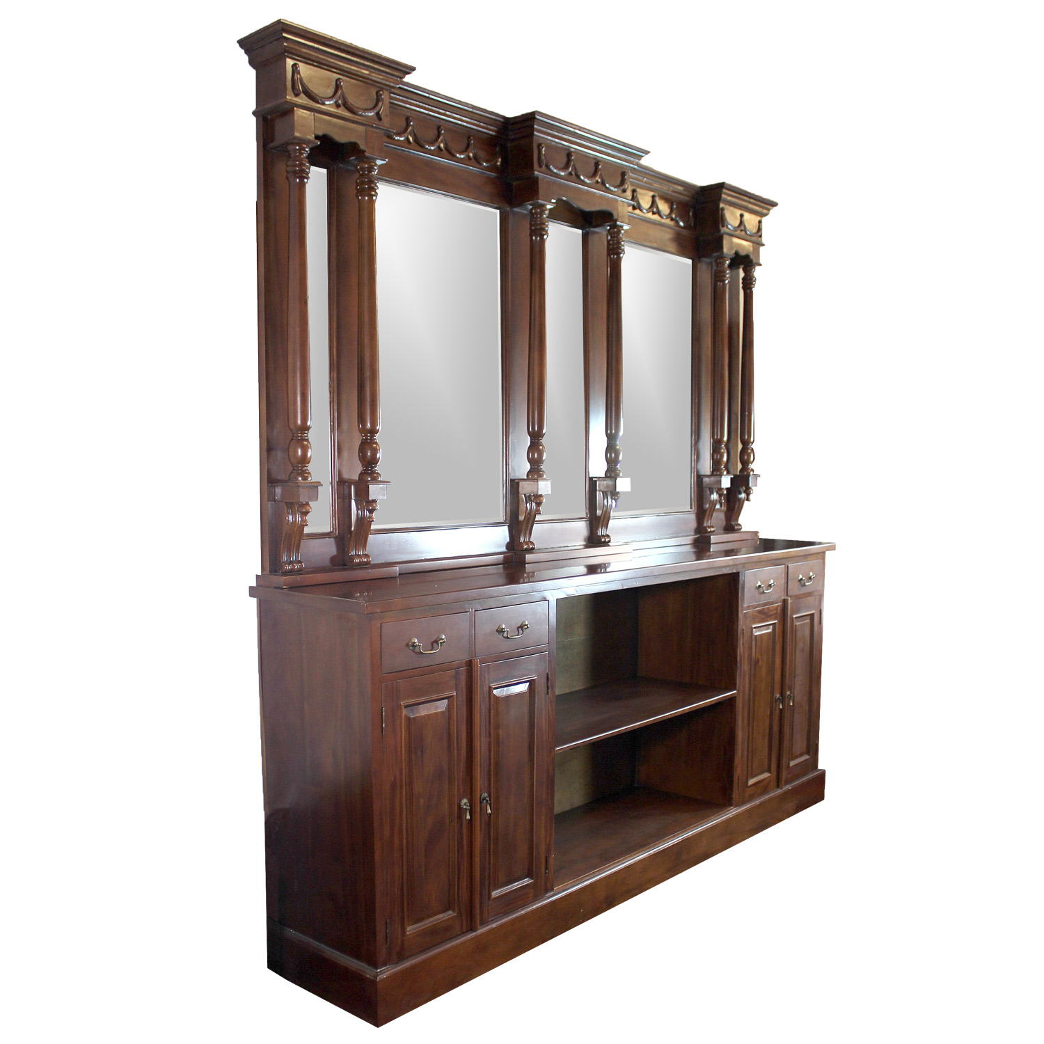 8 39 mahogany victorian back bar furniture antique replica sale home man cave the kings bay