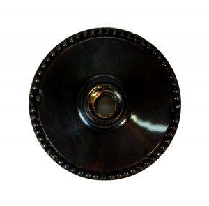 Big Aged Bronze Finish Door Rosette Back Plate 3.25″ Diameter Beaded Edge