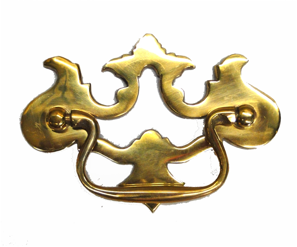 Old Cabinet Hardware Chippendale Pierced Dresser Pull Solid Brass