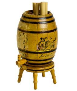 Vintage Pop UP Whiskey Barrel Cigarette Dispenser Old Ca 1960 Tobacco