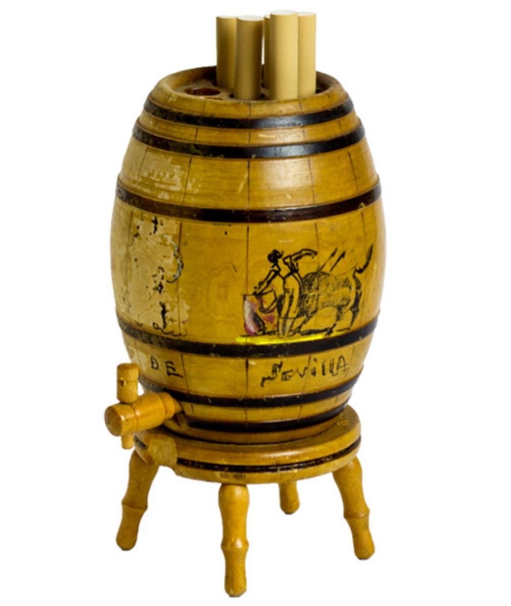 Vintage Pop Up Whiskey Barrel Cigarette Dispenser Old Ca