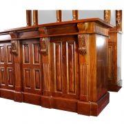 8' Antique Replica Mahogany Victorian Front & Back Home Bar Sale Item