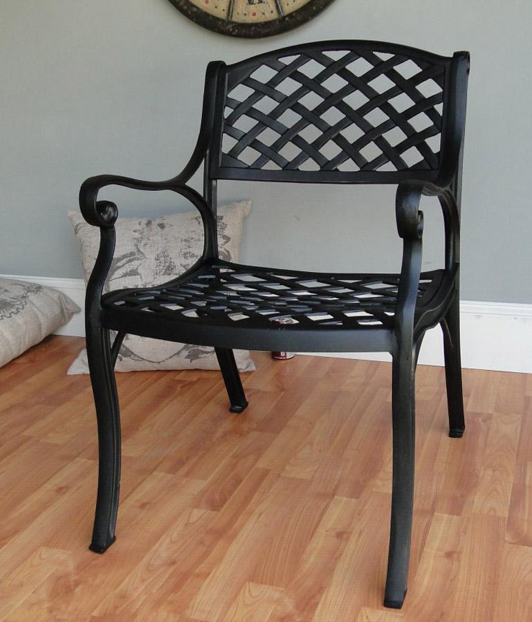Metal Outdoor / Indoor Garden CAFE Side Chair Furniture Coffee Shop Restaurant Pair