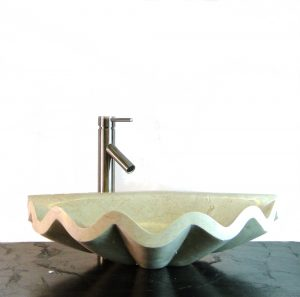 Onyx Sea Shell Basin Vessel Sink Bathroom Kitchen Bar Counter Fixture Plumbing m3b