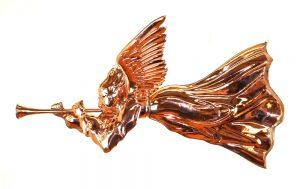 Gabriel Angel Cherub with Trumpet Copper Weather Vane Trade Sign
