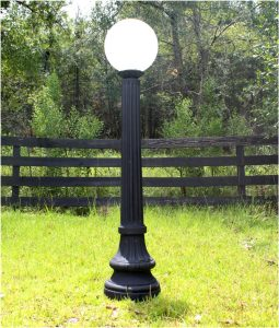 Indoor Outdoor Walkway Post Light Fixture Antique Cast Iron Style Replica