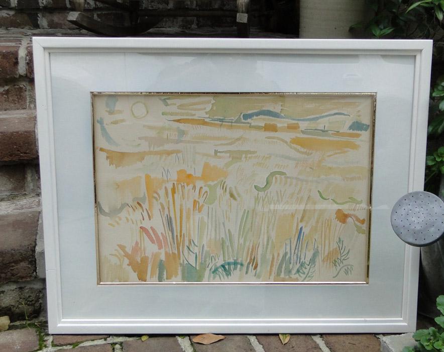 Jack Paul HANLON (1913-1968) Watercolor Painting of Landscape, VERY RARE Artist