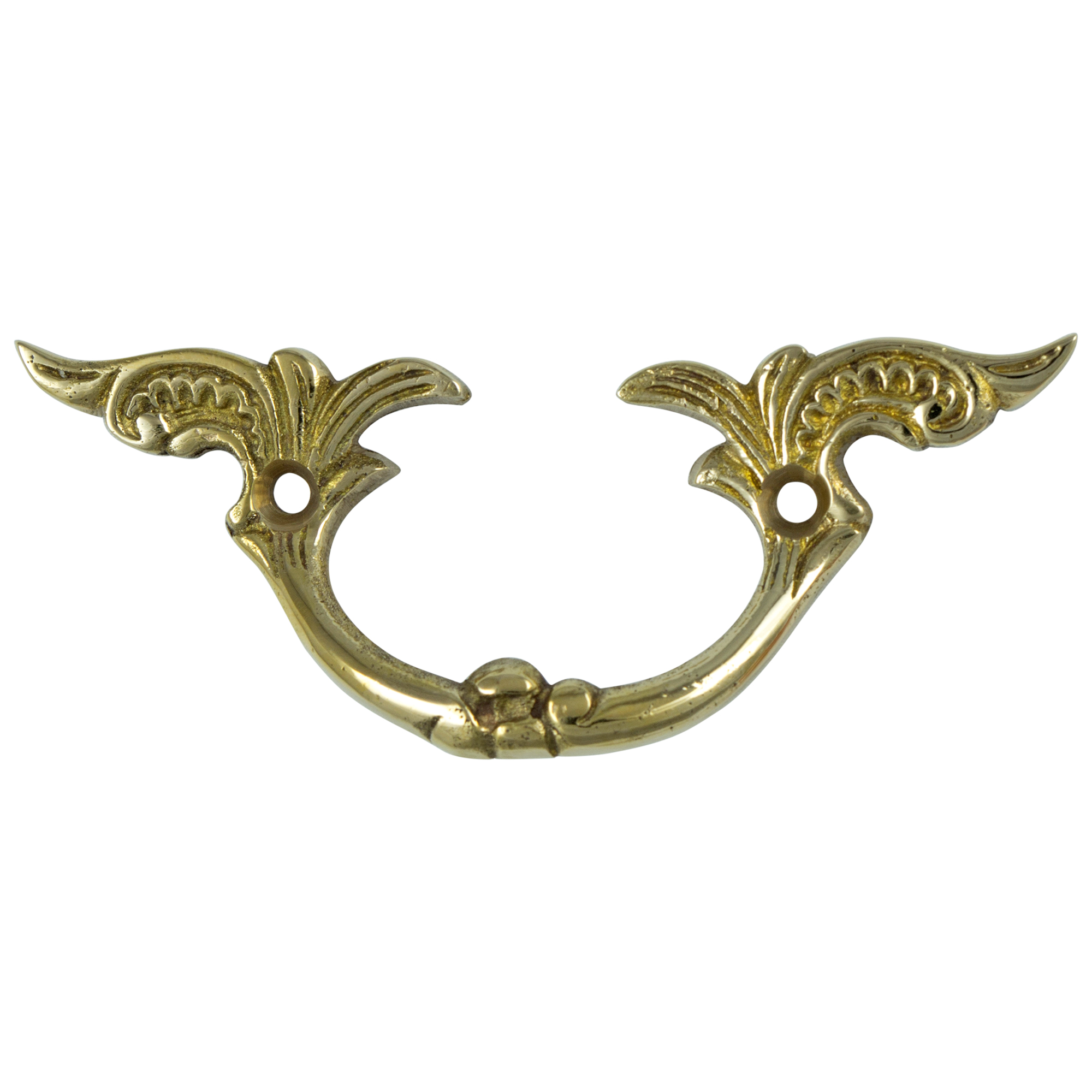 Brass Drawer and Dresser Cabinet Pull Antique Hardware Replica 1