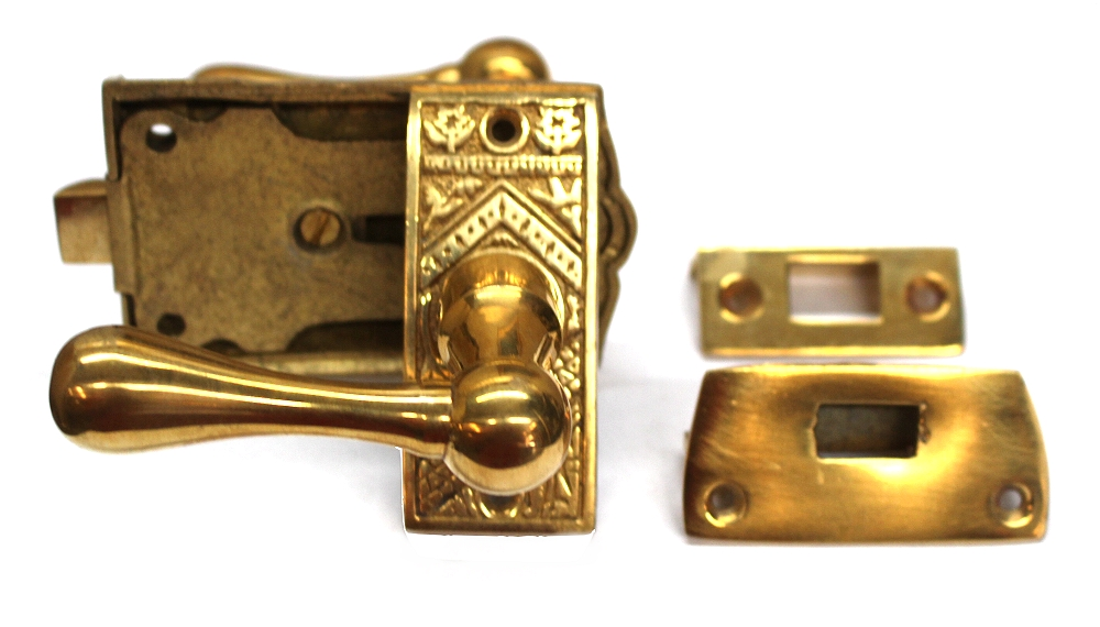 Vintage Brass Eastlake Victorian Screen Door Latch Lock