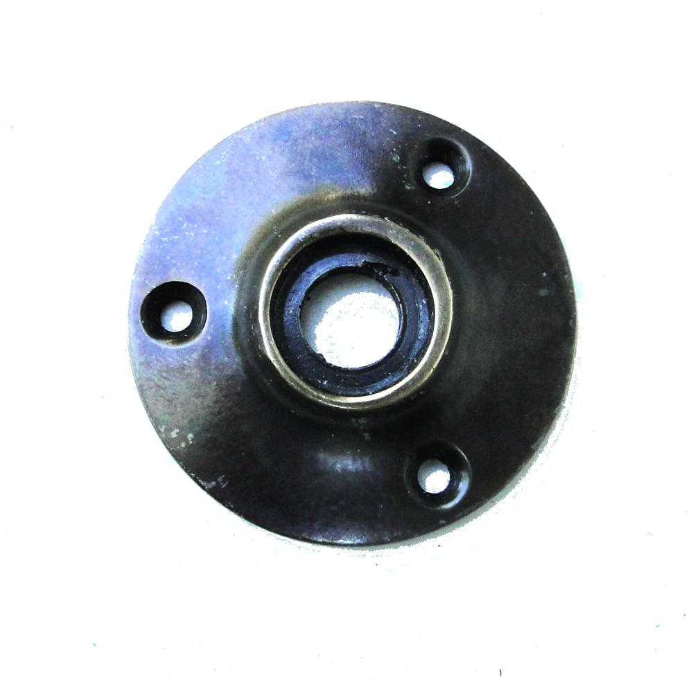 Small Door Rosette of Solid Brass AGED BRONZE hardware renovators supplies 1