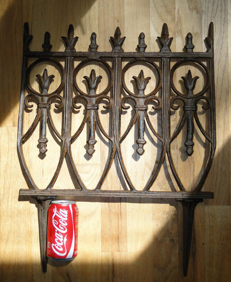 Victorian Garden Fence Heavy Antique Style Old English Lawn Edging Aluminum  ...