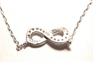 """Sterling Silver Infinity Love Necklace with 18"""" Length Chain Lovely Jewelry"""