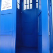 Blue English Police Call Box, Doctor Dr. Who Tardis Phonebooth, Full Size, Knock Down