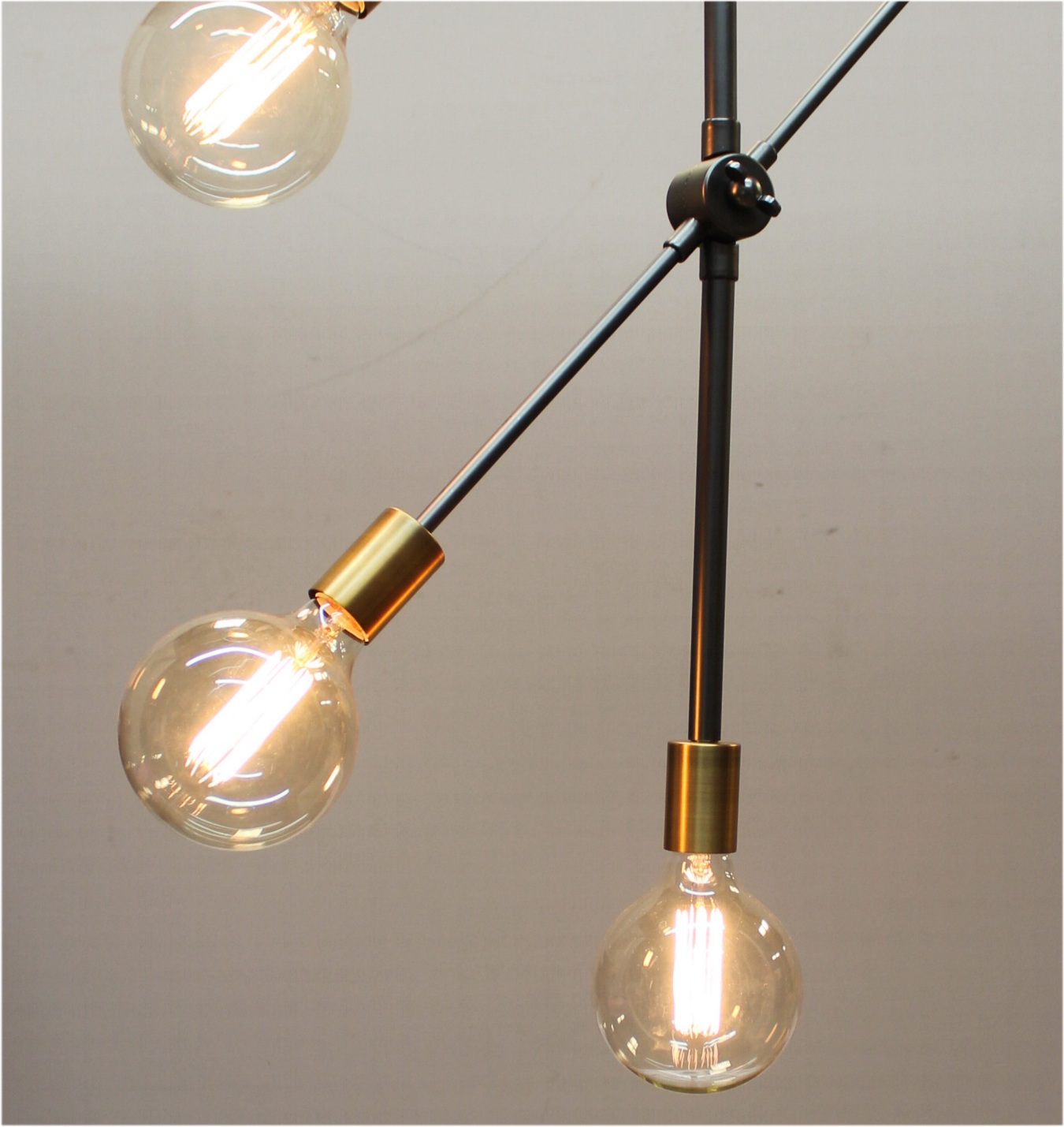Contemporary Five Arm Pendant Chandelier Mid Century Modern Danish Euro Swivel Arms Light Fixture