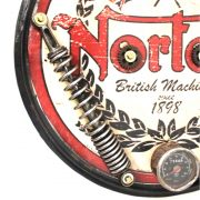 Norton 1898 British Motorcycle Headlight Antique Style Lighted Wall Sign