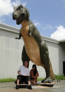 GIANT LIFESIZE T Rex Dinosaur Sculpture IN STOCK, Tyrannosaurus Museum Trade Show statue