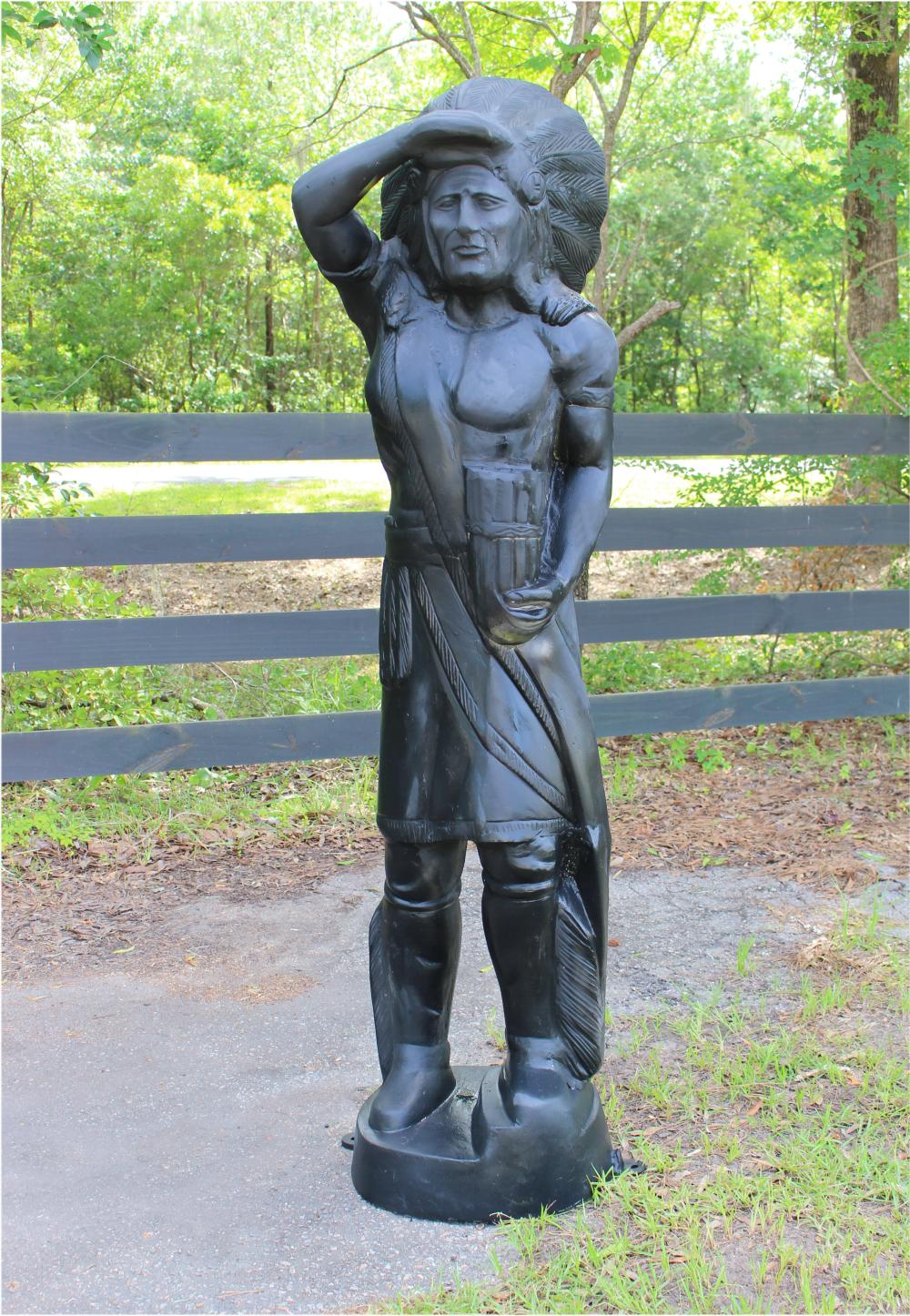Life Size Metal Cigar Store Indian Statue Sculpture For