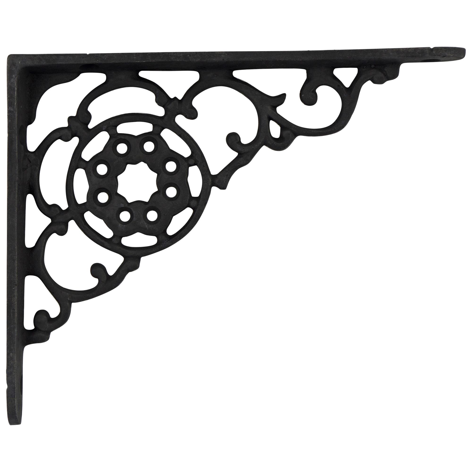 victorian cast iron shelf bracket antique vintage black paint