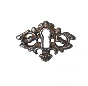 Beautiful Brass Key Hole Cabinet and Door Hardware DARKENED