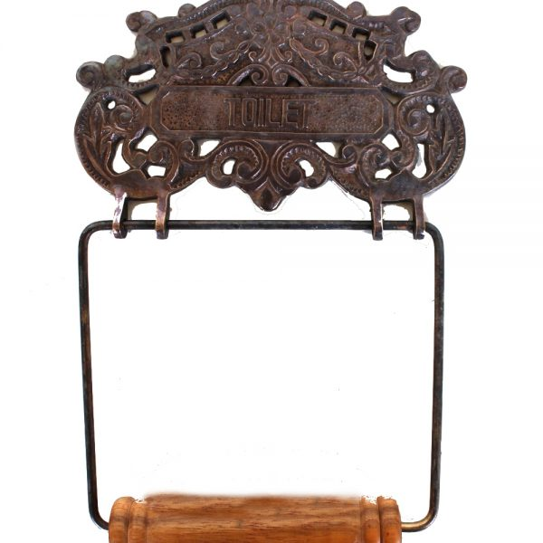 Lovely CAST BRASS Victorian or French Style Wall Mounted Toilet Paper Holder Oil Rubbed Bronze