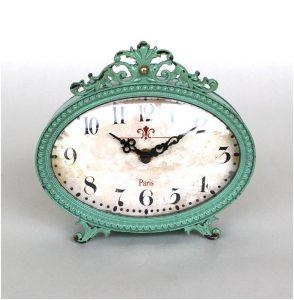 Aqua Blue Vintage Paris Style Side or End Table Clock Mantle