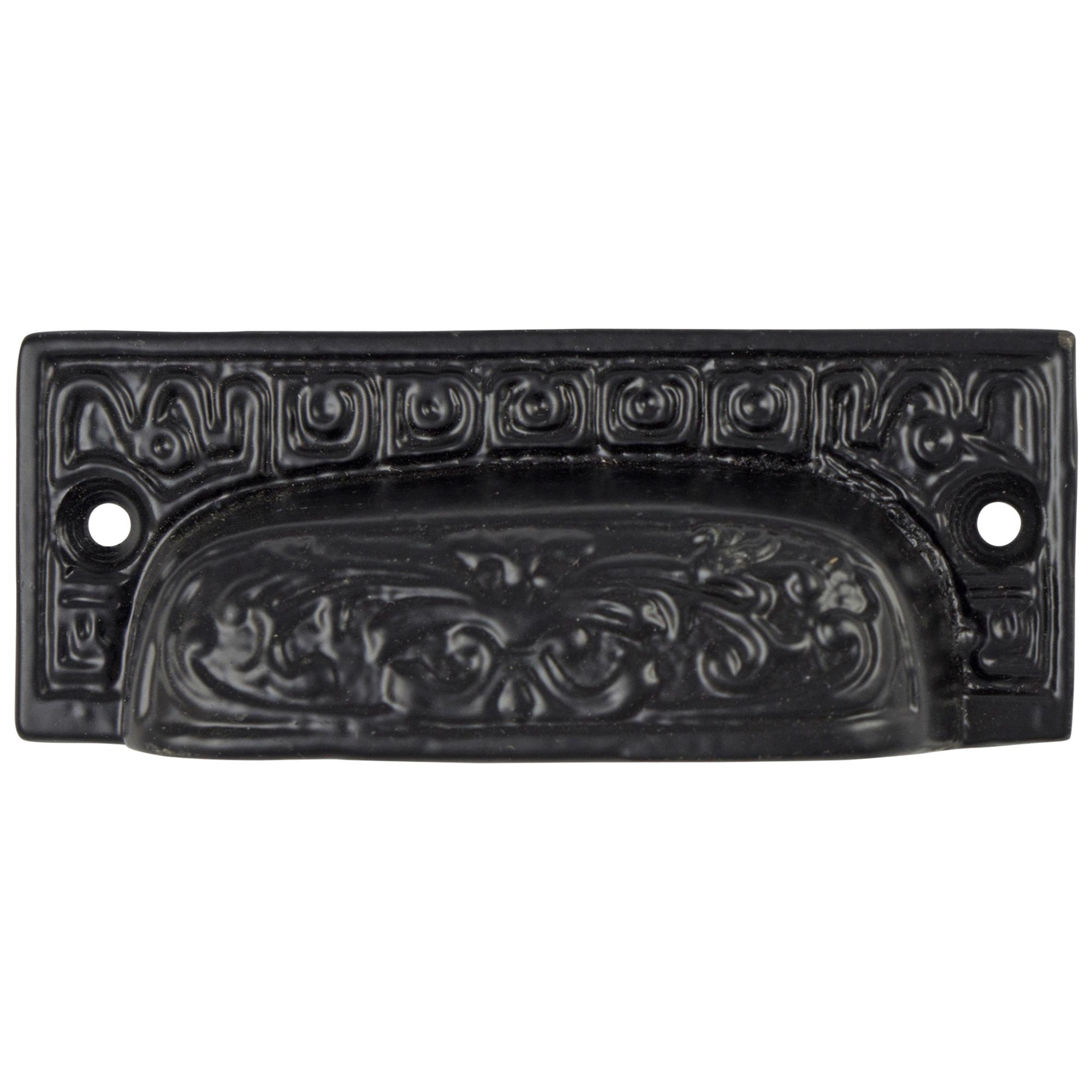 Old Aged Cast Iron BIN PULL Vintage Restoration Hardware