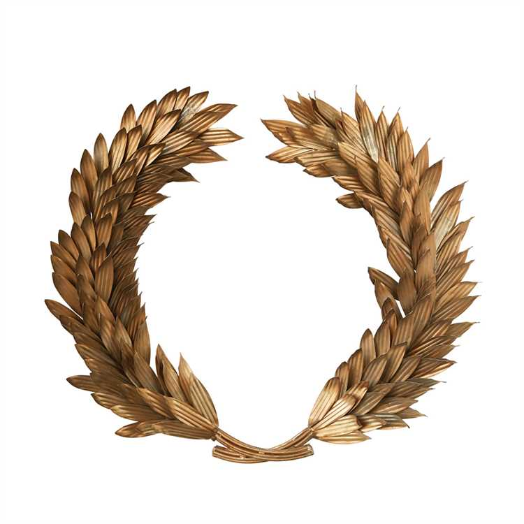 Roman Emperor Gladiator Gold Metal Laurel Wreath Wall