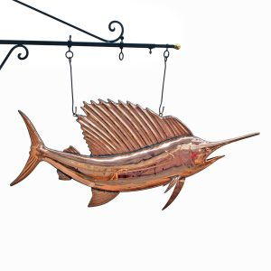 Copper Sail FISH Trade Sign Ocean Sea Fishing Bill Seafood Restaurant Sword