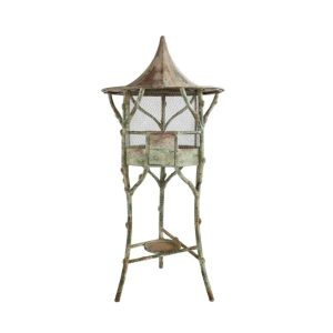 Big Standing Birdcage Pagoda with Antique Aged Finish Lovely