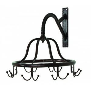 Commercial Wall Mounted Victorian Spinning Garment Rack for Clothes or Towels, Old Style