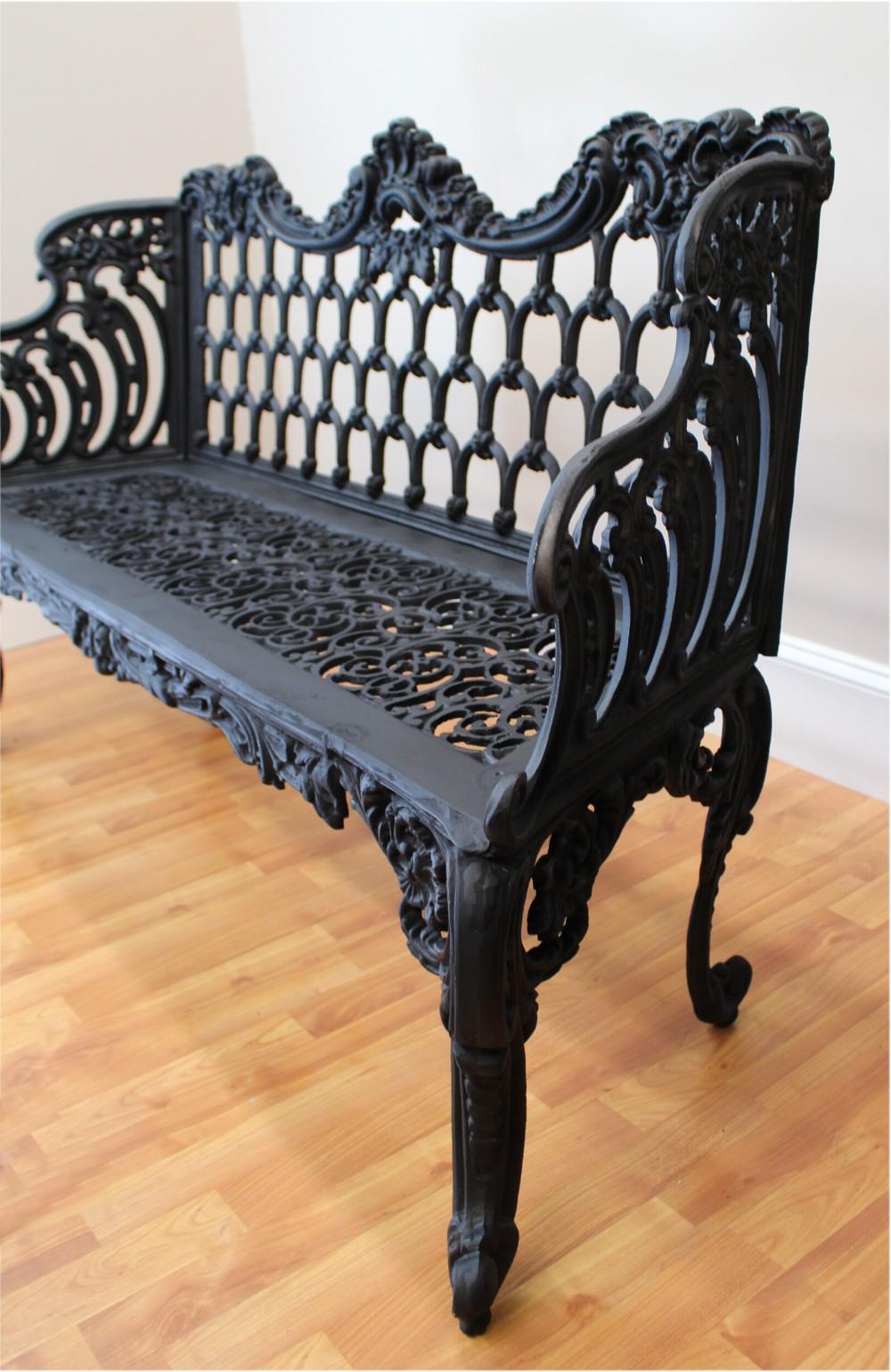 Colonial Or Victorian Vintage Love Seat Garden Bench Fancy