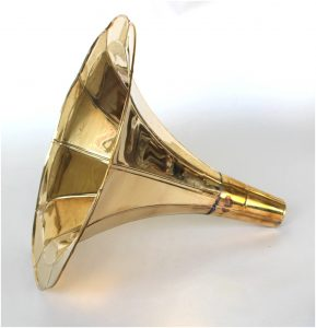 Solid Brass Gramaphone Gramophone Horn, Only for Replacement Part or Craft RCA Victrola