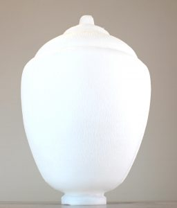 "Outdoor Acorn Shape Globe Shade 4"" Fitter Size for Pole Light and Fixtures Plastic"