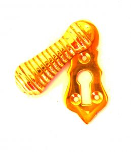 Key Hole Cover with Swivel Top Ribbed Old Fashioned Cabinet Door Hardware