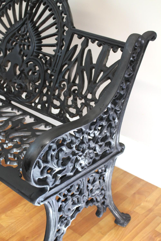Antique Victorian Vintage Garden Bench Seat Federal Fancy