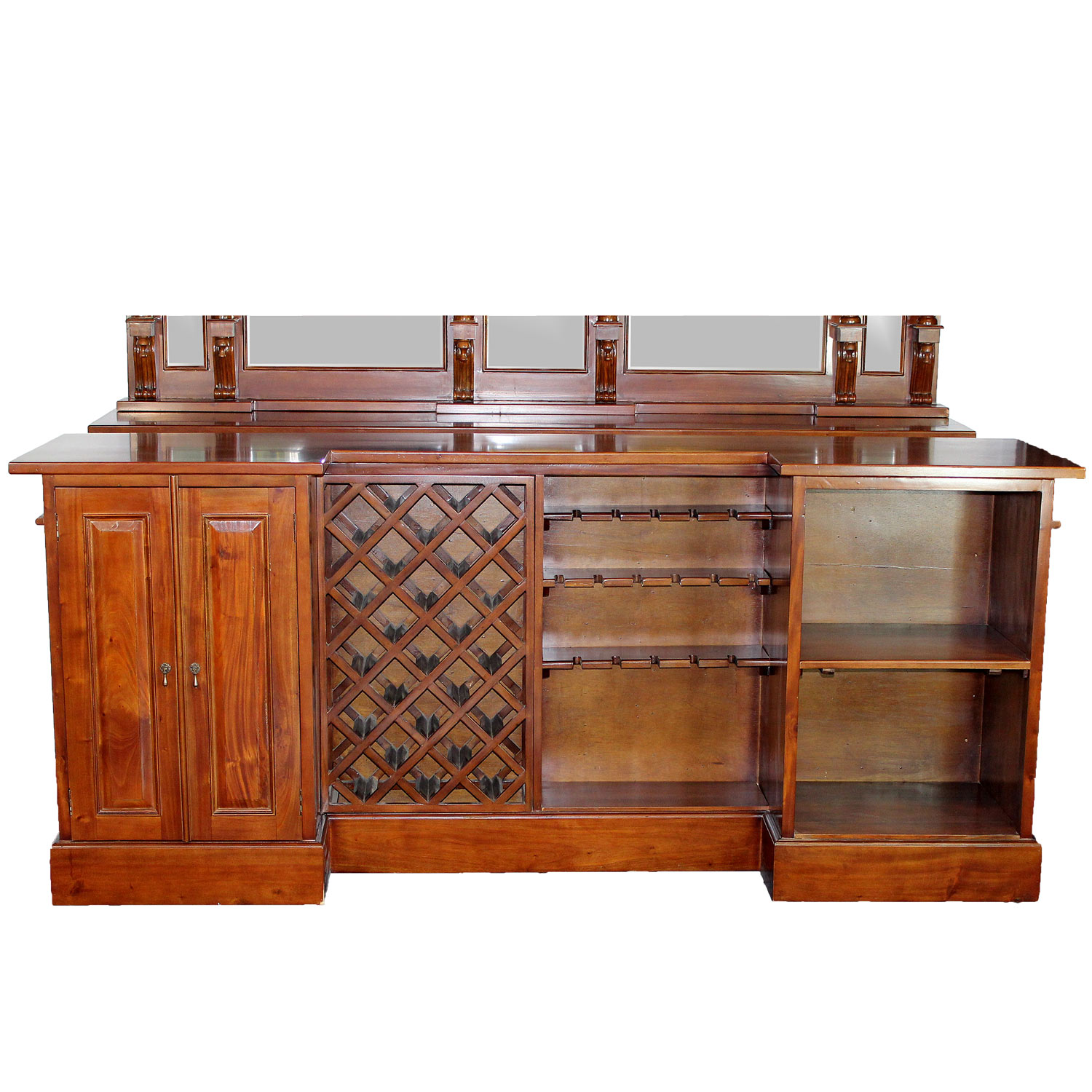 8 39 Antique Replica Mahogany Victorian Front Back Home Bar Sale Item The Kings Bay