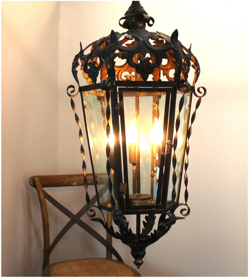 Gothic greek revival hanging pendant light fixture for Old looking light fixtures