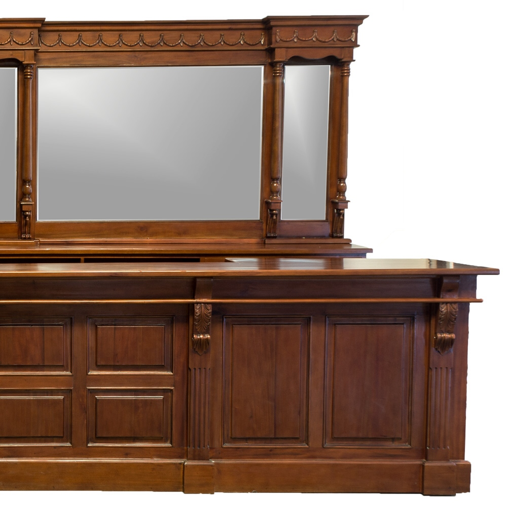 16 39 victorian mahogany mirrors back and front home bar for Victorian home furniture