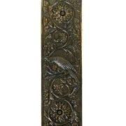 Parrot Push Plate Bird Motif Door Hardware Vintage Restoration Replica Aged Bronze