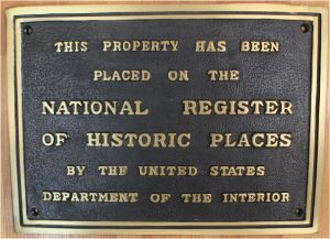 Solid Brass National Register of Historic Places Wall Plaque, Old Building