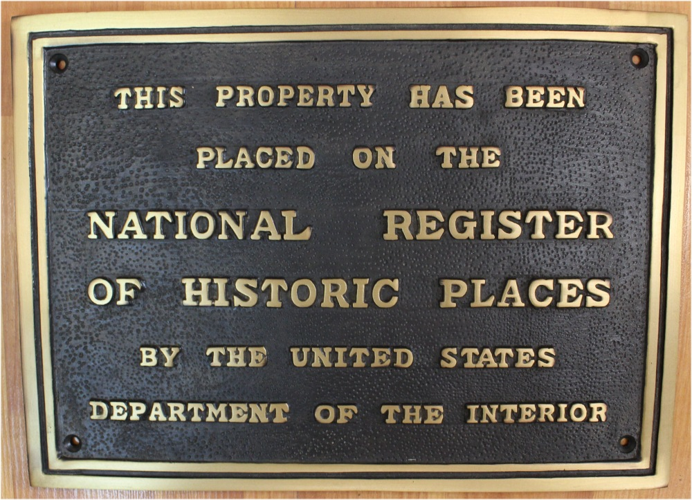 Solid Brass National Register of Historic Places Wall Plaque, Old Building 1