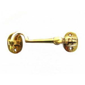 "Cabin Latch Hook Solid Brass Hardware Vintage Restoration Replica 4.5"""